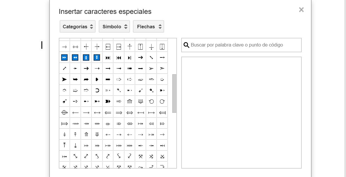 Añadir símbolos especiales