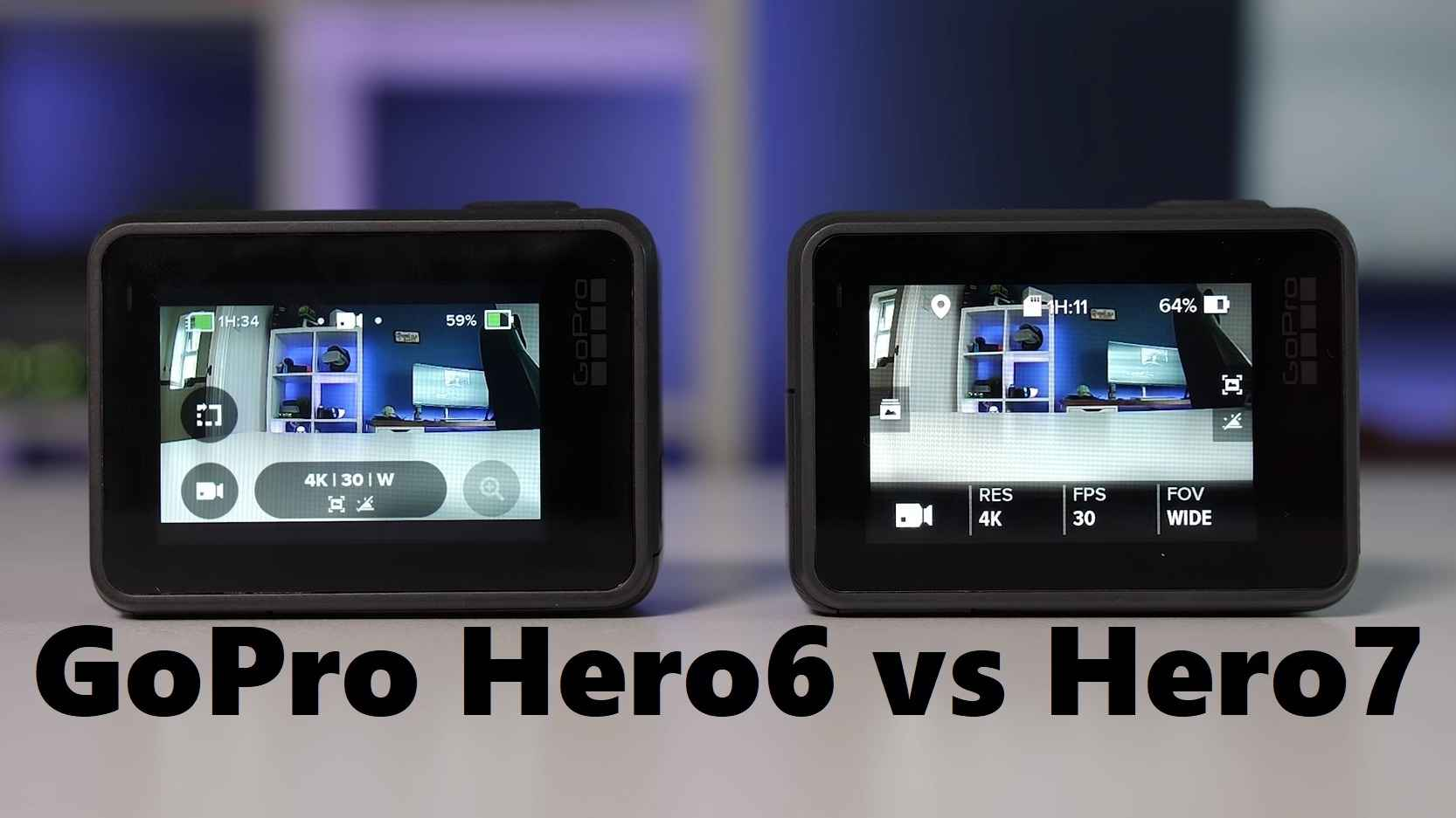 GoPro Hero6 vs Hero7