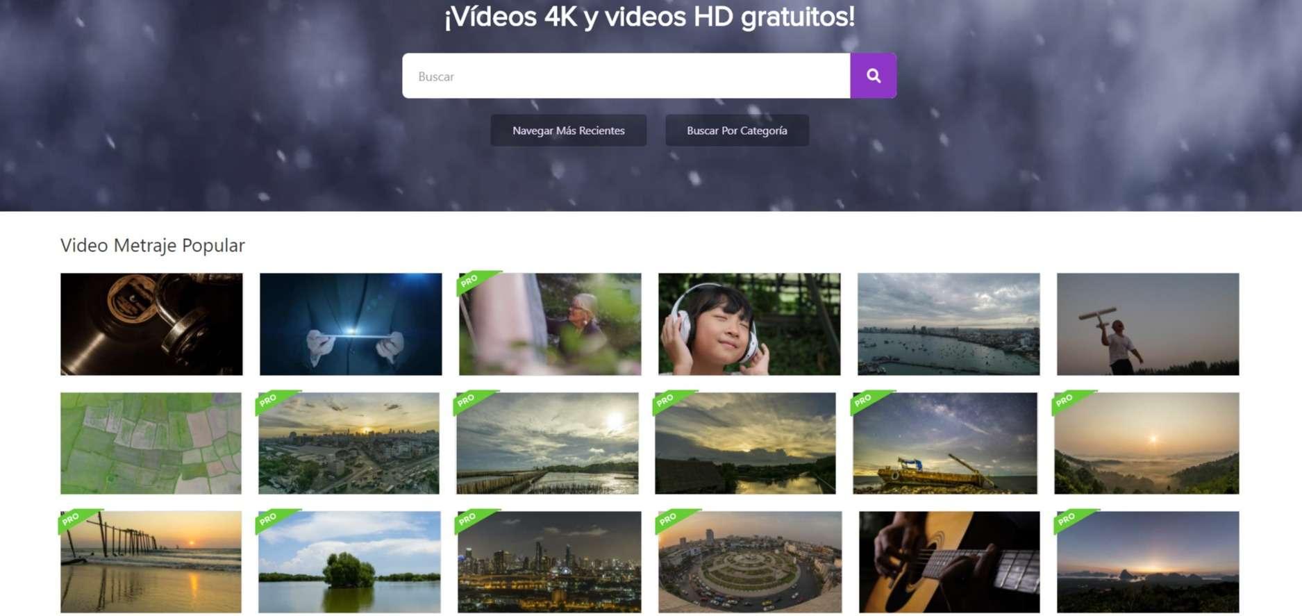 Videezy Paginas para descargar videos gratis